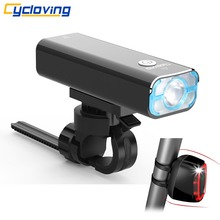 Cycloving C168 bike headlight Bicycle light and Meilan X6 Bicycle tail light 6modes BIKE Accessories(China)