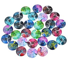 MJARTORIA 10PCs Dome Glass DIY Cabochon Flatback Embellishment DIY Accessories For Jewelry Cabochons For Needlework Random Mixed