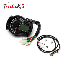 Triclicks Universal 15000rpm Modern RX2N Similar LCD Digital Motorcycle Odometer Speedometer Adjustable MAX 299KM/H Instruments(China)