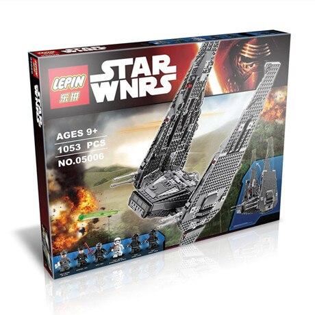 1053pcs LEPIN 05006 2016 new Star wars Series Kylo Ren command shuttle assembling building blocks 74104<br><br>Aliexpress