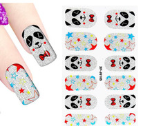 1sheet cute panda nail art stickers 3D Design adhesive nail decals waterproof nail stickers makeup nail tools(China)
