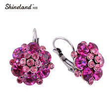 Clip On Earrings For Women Fashion Accessories Gold Silver Color Multicolor Crystal Rhinestone Statement Clip Earrings Jewelry(China)