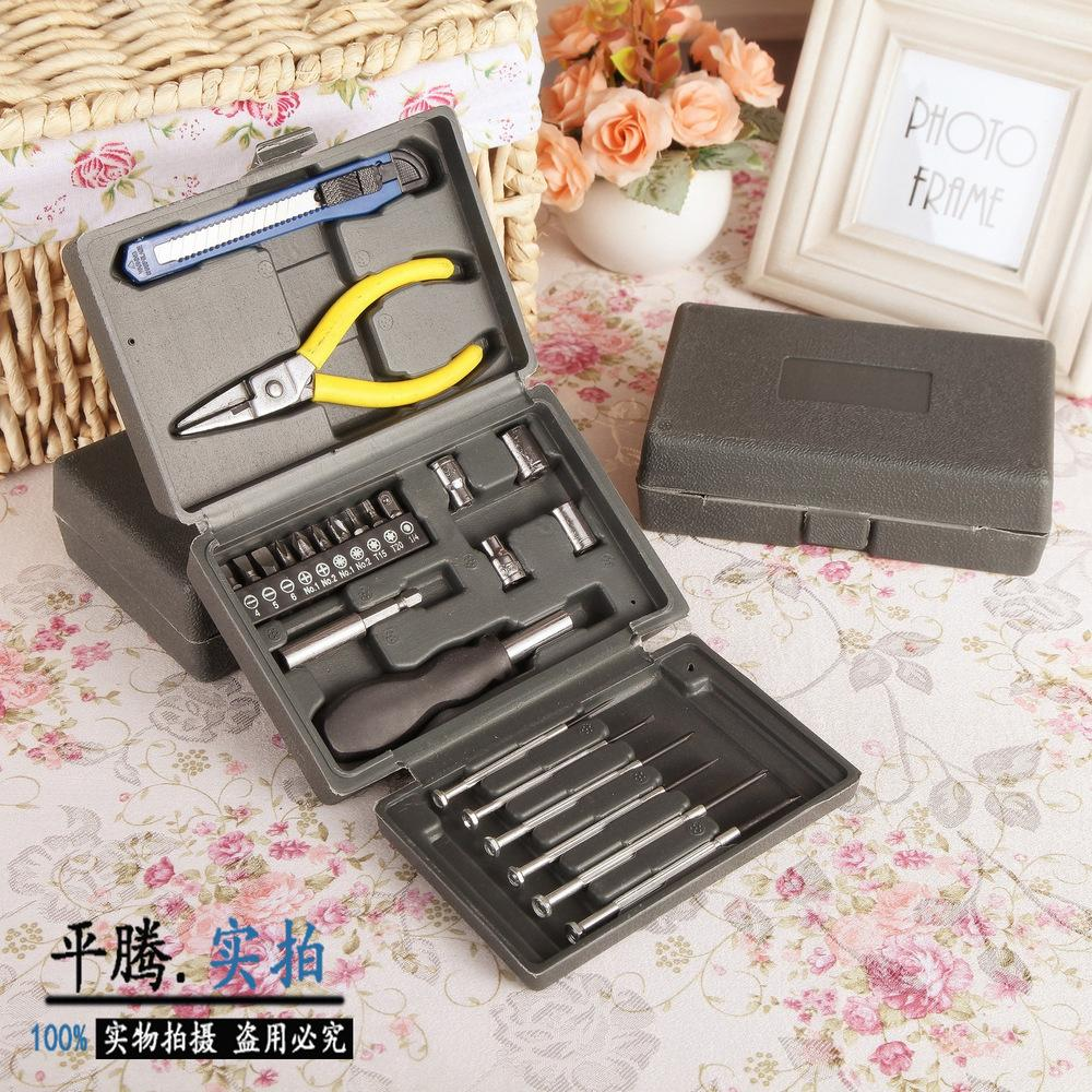 24PC home- hardware combination tool kit combination tool sets plastic toolbox<br><br>Aliexpress