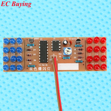 1 pcs Red Blue Double Color Flashing Lights DIY Kit Strobe NE555 + CD4017 Weling Practice Board Learning  Electronic Suite