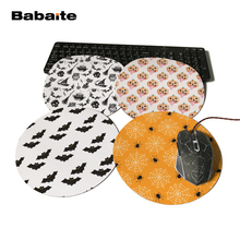 Babaite Design Halloween Flying Bat  Unique Desktop Pad Mousepads Computer Animation Round Mouse Mat Round Mice Pad