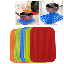 Silicone Holder Mat Kitchen Heat Non-slip ResistantTrivet Pot Tray Straightener