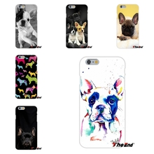 For Huawei G7 G8 P8 P9 Lite Honor 5X 5C 6X Mate 7 8 9 Y3 Y5 Y6 II whimsical colorful french bulldog Dogs Silicone Phone Case