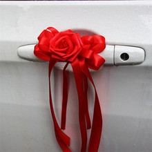 Wedding Car Decoration Wedding Flower 8 Colors Car Door Handles and Rearview Mirror Decoration Free Shipping