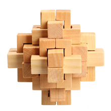 Chinese Traditional Wooden Kong Ming Lock Assembly Puzzle Toy Adult Children Intelligence Brain Teaser Toy
