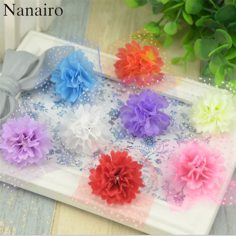 50pcs 3cm wholesale mini artificial gerbera daisy silk flowers heads for wedding decoration headmade fake
