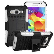 For Samsung Galaxy Core Prime G360 G3608 G360H Case Hybrid Kickstand Rugged Rubber Armor Hard PC+TPU Stand Function Cover Cases