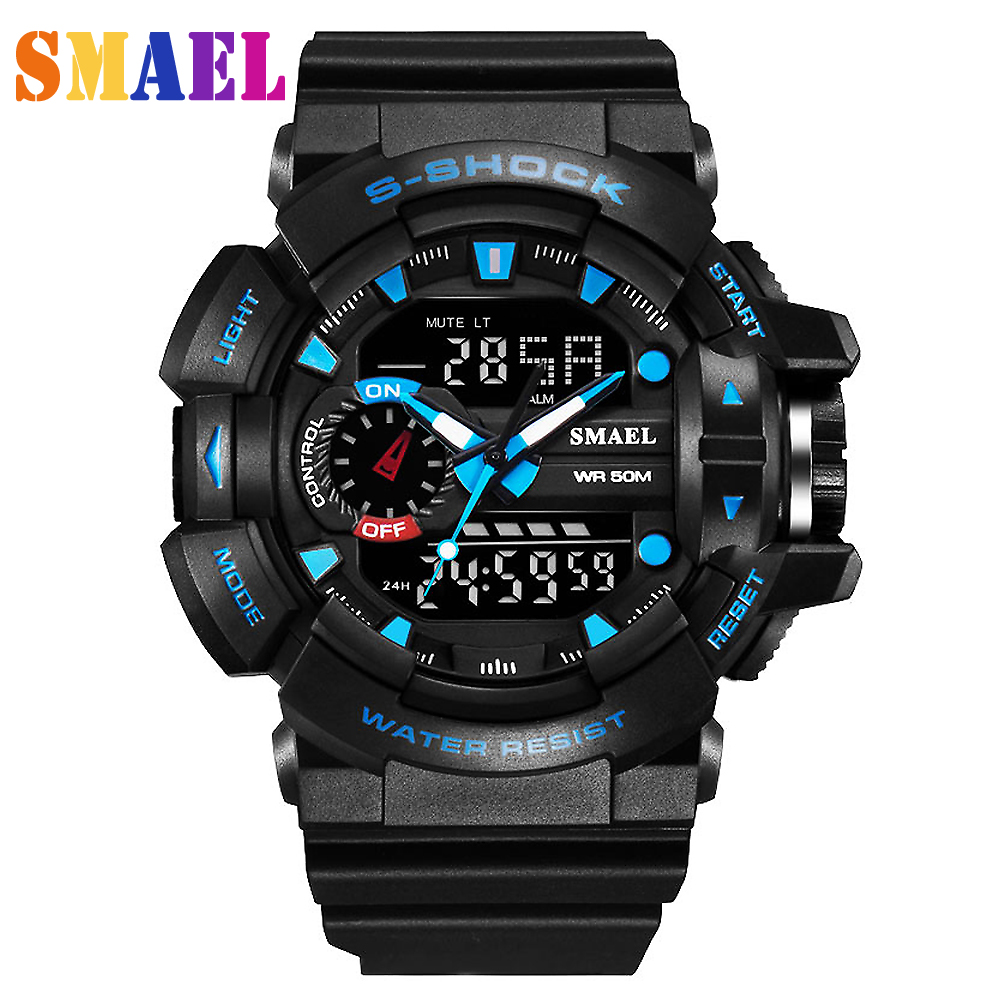 Fashion Outdoor Wristwatches mens Waterproof Digital-watch S Shock Men Sports Watches 50M Swim LED Digital Military Watch men<br><br>Aliexpress