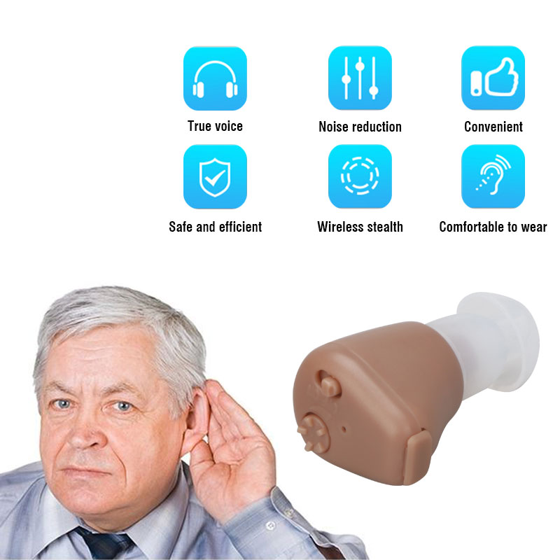 Hearing Aid Digital Ear Amplifier Rechargeable for K-88 Mini In Ear Hearing Aid Devices Portable Sound Hear Clear Elderly 3