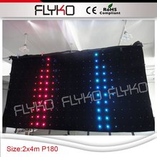 elegant falling star led video curtain p18 2*4m