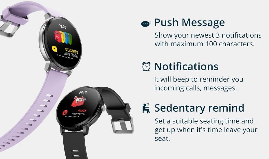 COLMI V11 Smart watch IP67 waterproof Tempered glass Activity Fitness tracker Heart rate monitor BRIM Men women smartwatch 8