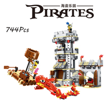 Models building toy 54041 Pirates Of The Caribbean Fish Monster Boat Castle Captain 747pcs Building Blocks compatible with lego