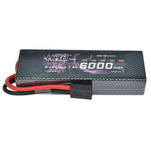 HRB RC Lipo Battery 2S 7.4V 6000mah 60C-120C Hard Case for 1/10 Traxxas Car Boat Helicopter Quadcpter(China)