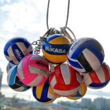 3.7cm 19 Color Volleyball Keychain Ornaments Business PVC of Volleyball Gifts Volleyball Top Football Beach Ball Key Ring(China)