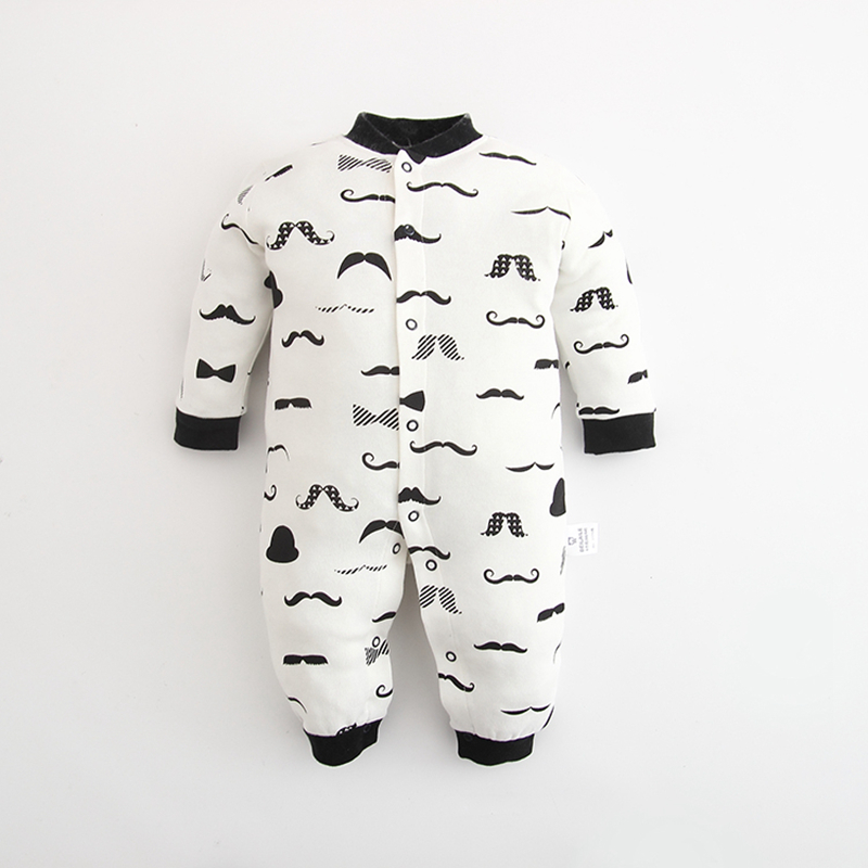 2016 Baby newborn White and Black baby Romper autumn spring and autumn long-sleeve Baby 1 pcs clothes  <br><br>Aliexpress