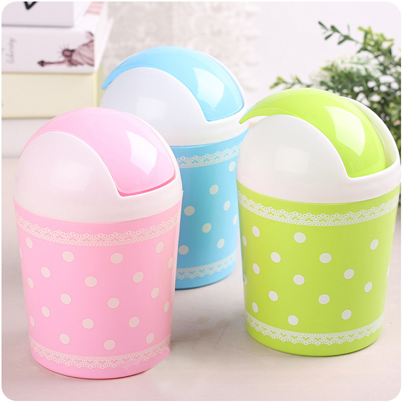 Candy Colors Mini Waste Bin Desktop Mini Trash Basket Garbage Can Wastebasket Home Office Desktop Dustbin Container(China (Mainland))