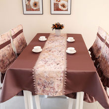 Big sale European style quality tablecloth patchwork lace table cover elegant dining tablecloths flower print towel 130x180cm