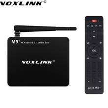 Voxlink M9 AMLOGIC S905 Android 5.1.1 TV box Quad Core 1G/8G Kodi XBMC DLNA Mircast WIFI Bluetooth Network Media player
