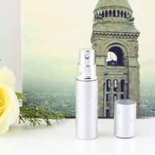 1PCS Refillable Spray Amazing Travel Perfume Atomizer Empty Bottle Easy Used Silver color