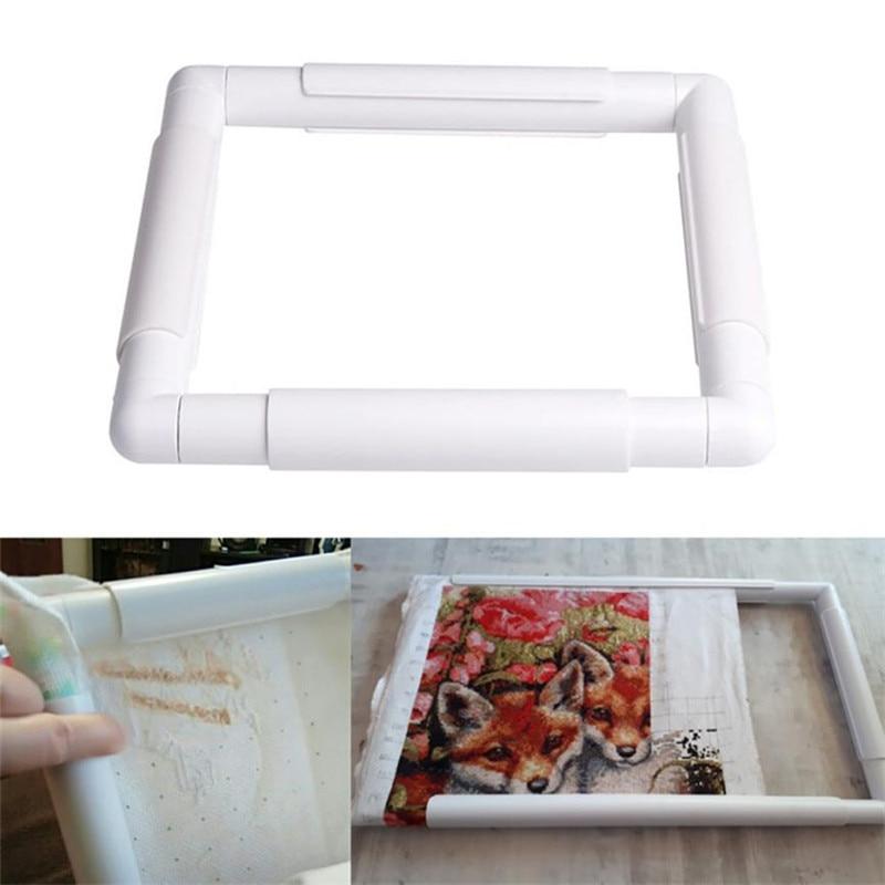 2018 Plastic Handhold Square Shape Embroidery Plastic Frame Hoop ...