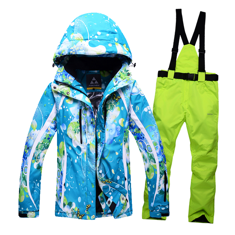 Free shipping Winter woman ski suit outdoor sports ski jacket and ski pants warm thick waterproof coat high-quality clothing<br><br>Aliexpress