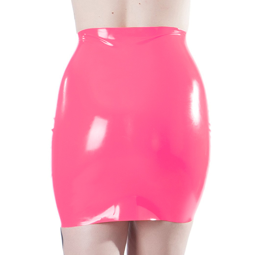 Sexy woman latex skirt 100% natural rubber fetish mini skirts exotic apparel costumes 2