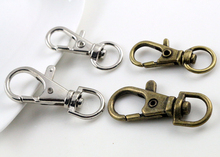 10pcs/lot 32mm And 38mm Two Size Bronze Rhodium Plated Jewelry Findings,Lobster Clasp Hooks for Necklace&Bracelet Chain DIY