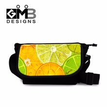girls messenger bags for school fruit 3D printing medium cross body bags cross side bags for teenagers cute side body bag women