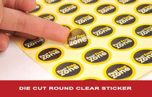 Customized logo or text transparent/clear PVC, white paper stickers, white pvc vinyl labels printing