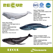 3pcs/set Recur Toys High Quality Whale Series High Simulation PVC Hand Painted Marine life Model Collection Xmas Gift For Kids