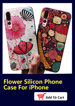 Flower Silicon Phone Case For iPhone X 8 7 Plus Rose Floral Leaves Cases For iPhone