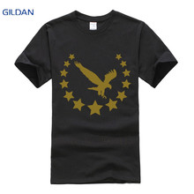 Breathable t shirts Homme 100% cotton men's t-shirts Fit Short Sleeve stars crown eagle jersey tee shirts fashion