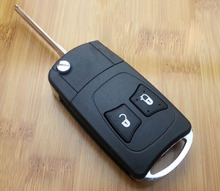 2 Buttons Modified Flip Remote Car Key Shell For Chrysler Without Battery Holder FOB Key Case(China)