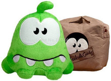 New Cut The Rope Sad Box Om Nom Reversible Plush Frog Toy 15cm Cute Stuffed Animals Kids Toys Dolls For Children Gifts