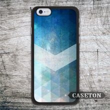 Abstract Geometric Blue Arrow Case For iPhone 7 6 6s Plus 5 5s SE 5c and For iPod 5 High Quality Classic Phone Cases Wholesale