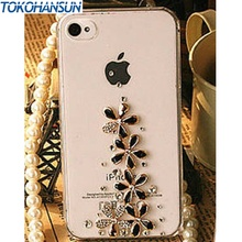 Diamond Flowers Bling Rhinestone Crystal Cell Phone Cover Case For iPhone 6 6 plus 5 5g 5s 5c 4 4g 4s 3g 3gs phone cases
