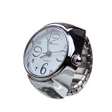 Fashion Women Men Ring Watch Stretch Quartz Finger Watches Rings Jewelry Gifts LL@17