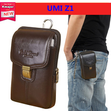 Luxury Genuine Leather Carry Belt Clip Pouch Waist Purse Case Cover for UMI Z1 5.5inch Cell Phone Bag Free Shipping