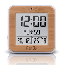 Fanju FJ3533 Digital Alarm Clock with Temperature and Humidity Dual Alarm Battery Operated Backlight Snooze Date Multifunction(China)