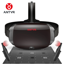 "ANTVR VR Headset 2K Virtual Reality 3D Glasses For PC Compatible with Steam VR Cyclop 5.5""Dual OLED Helmet virtual pc glasses(China)"