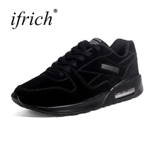 Mens Sport Shoes Air Cushion Running Sneakers Black Mens Running Trainers Comfortable Brand Sport Running Shoes Men Cheap(China)