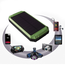 PowerGreen Battery Energy Supplier Solar Charger 10000mAh Carabiner Design Solar Power Bank Panel(China)