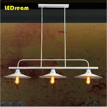 Free shipping pendant light Loft northern French rural industry a buffet restaurant one head pot droplight led e27
