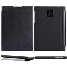 For BlackBerry Passport Case, Nillkin Luxury Black Flip Folio Leather Cover Case Bag For For BlackBerry Passport /Q30 Protective