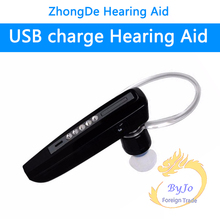 Rechargeable bluetooth style BTE hearing aid S-101 earphones deaf cheap hearing aids for mild to severe(China)