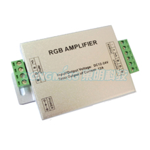 New style RGB amplifier, led amplifier, rgb amplifier controller DC12 -24V for rgbw led strip with lower price free fedex